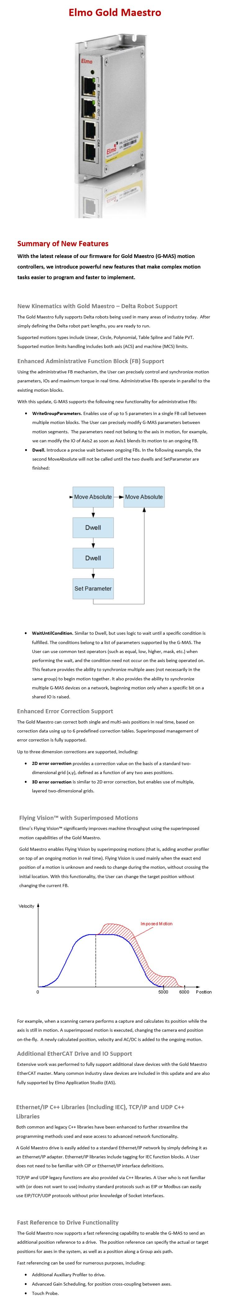 Elmo Motion Control: Motion Controller (Gold Maestro)