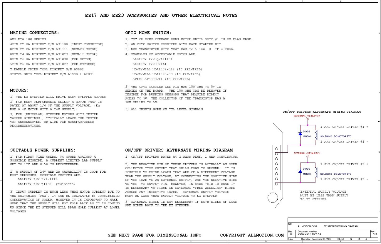 Allmotion Stepper Drive Ezhr17 Series Unipolar Motor Wiring On 3dcontentcentral