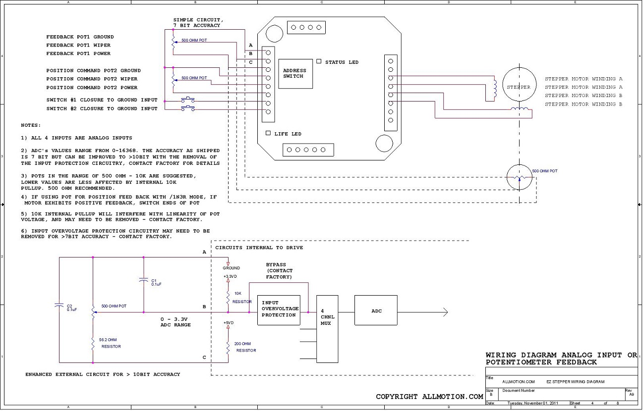 Wiring Adc Drive Explained Diagrams 2007 Polaris Sportsman 500 Diagram Allmotion Stepper Ezhr17en Series
