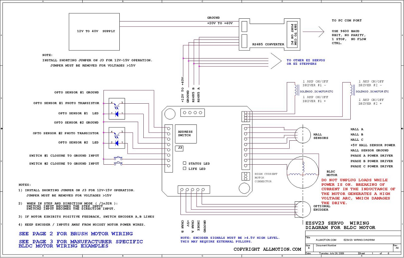ezsv23_wiring page 001 allmotion servo drive (ezsv23 series) heidenhain encoder wiring diagram at soozxer.org